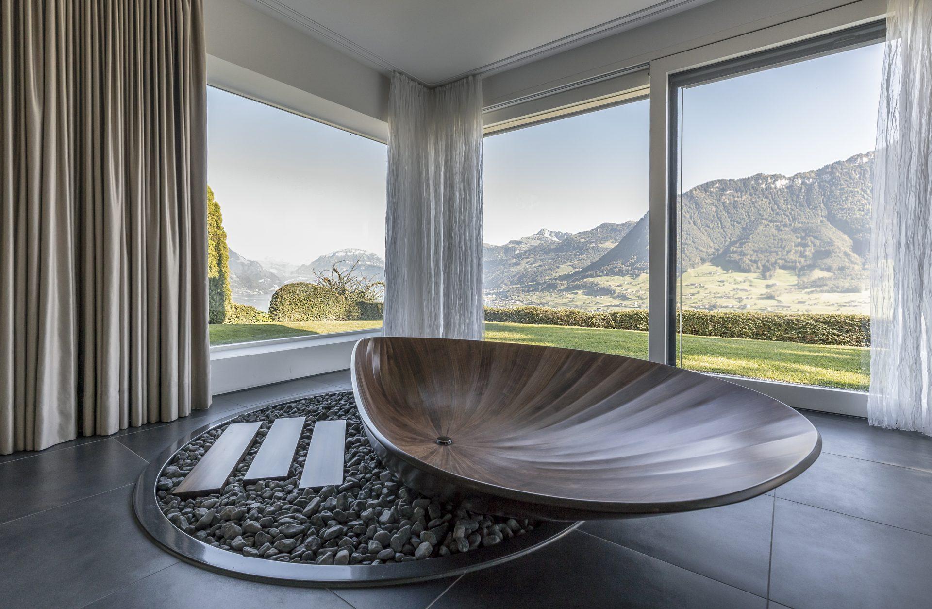 Scheuber Badewanne Holz Innenarchitektur Vorhänge