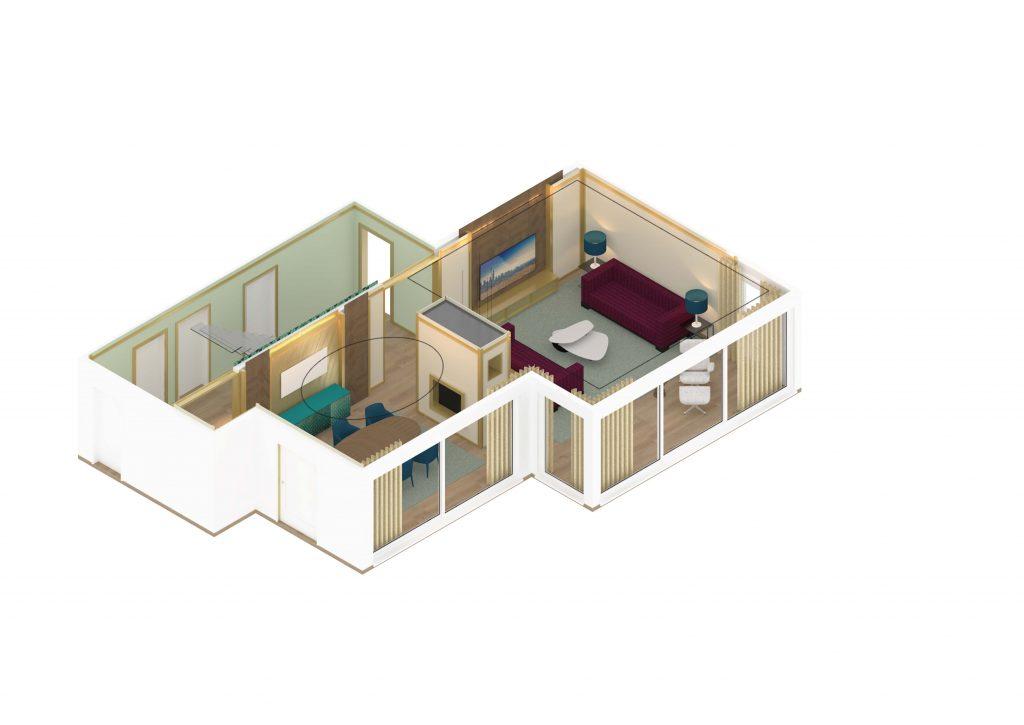 Scheuber Isometrie Rendering Projekt Innenarchitektur