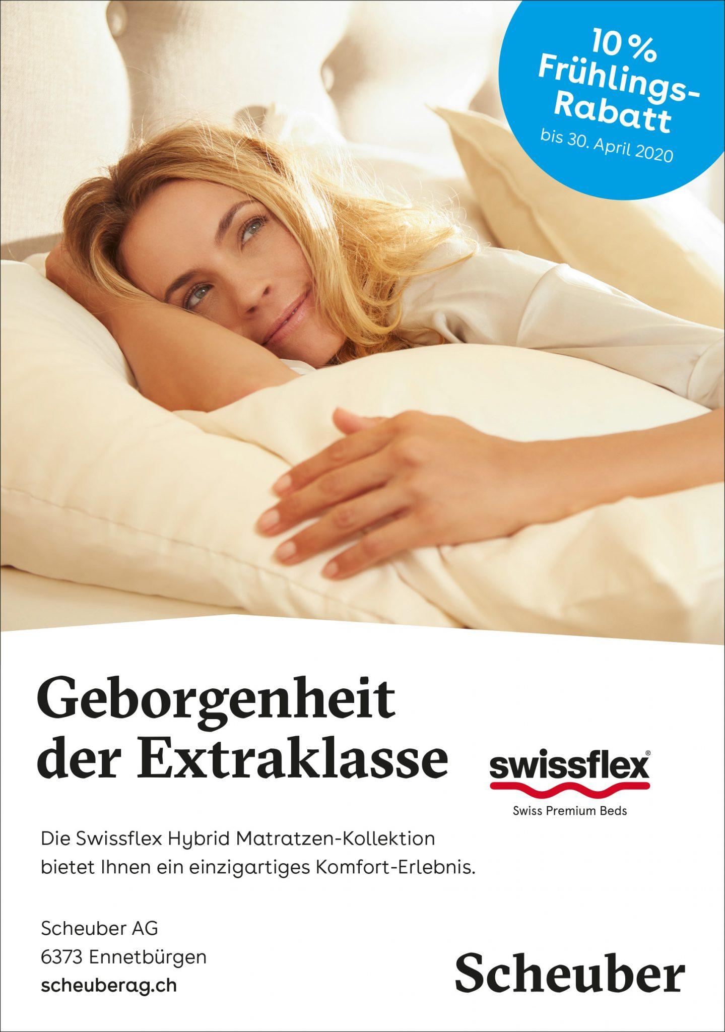 Scheuber Swissflex Aktion Rabatt